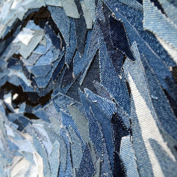 Realistic Portraits Made Out of Denim by Deniz Sagdic