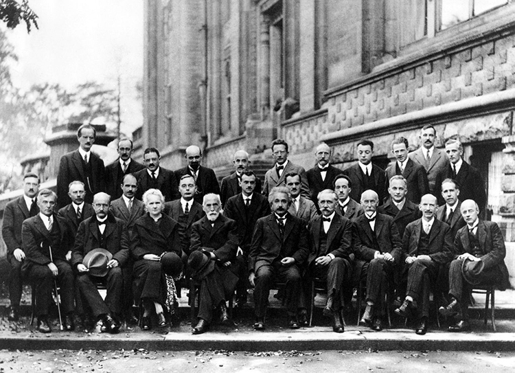 Fifth Solvay Conference 1927 Einstein Curie Bohr
