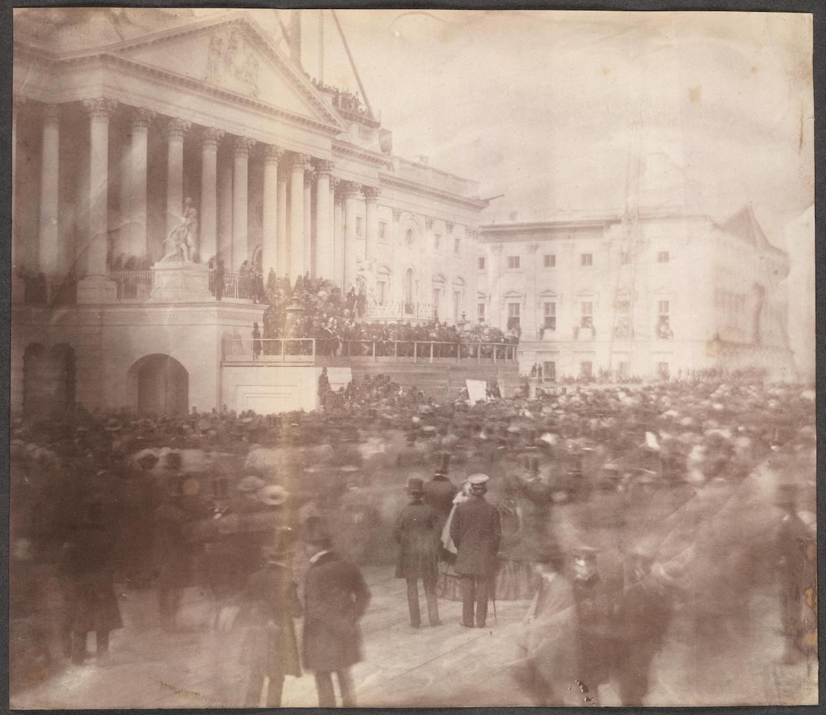 This is the Oldest Known Photo of a U.S. Presidential Inauguration - James Buchanan 1857