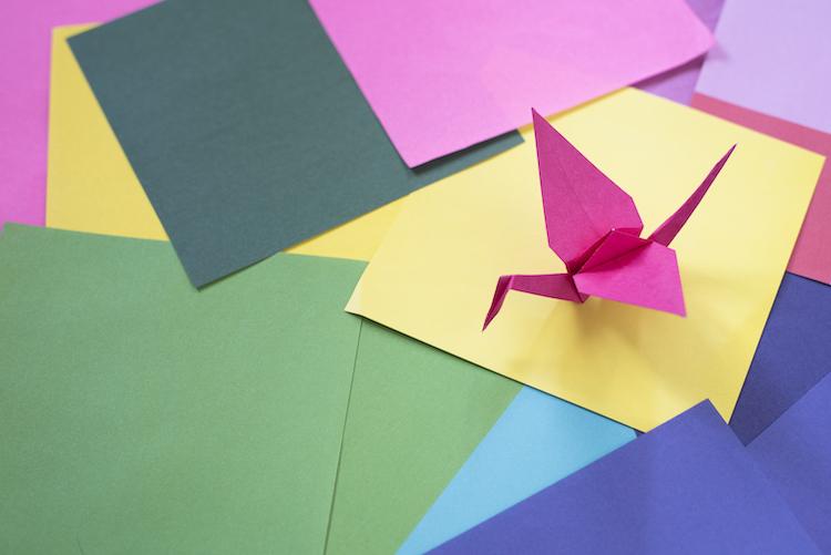 Paper Crane on Paper