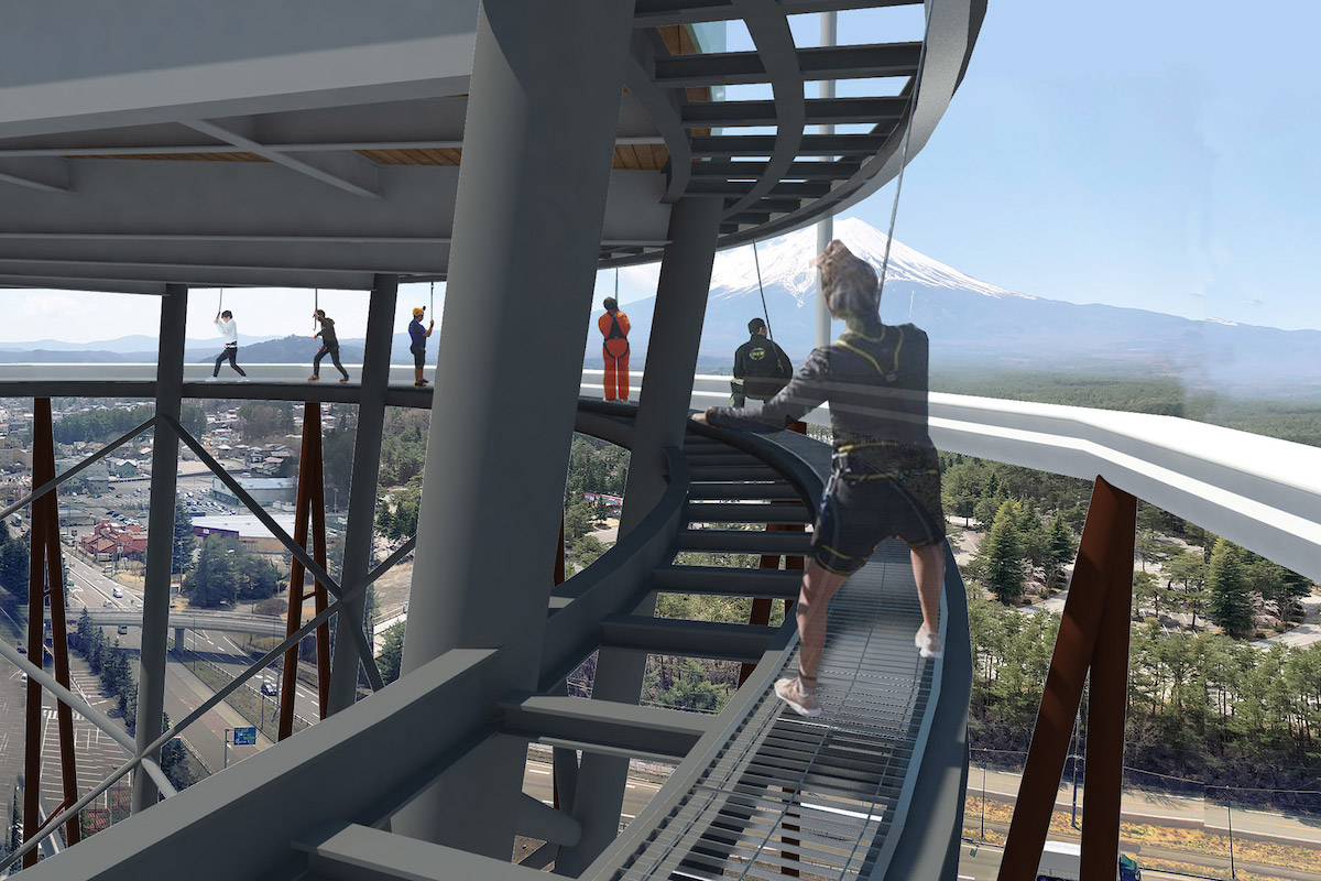 Fujiyama Walk - This Roller Coaster Tower Will Give Visitors an Incredible View of Mount Fuji