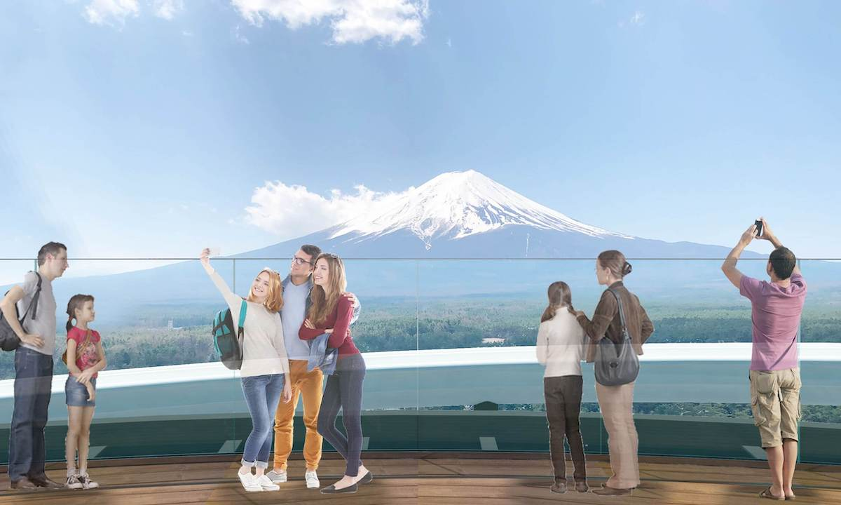 Sky Deck Observatory - This Roller Coaster Tower Will Give Visitors an Incredible View of Mount Fuji