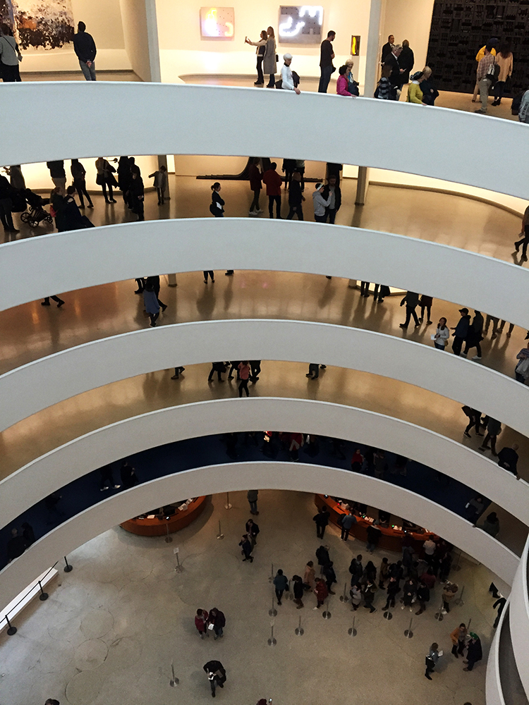 Interior Guggenheim Frank Llyod Wright