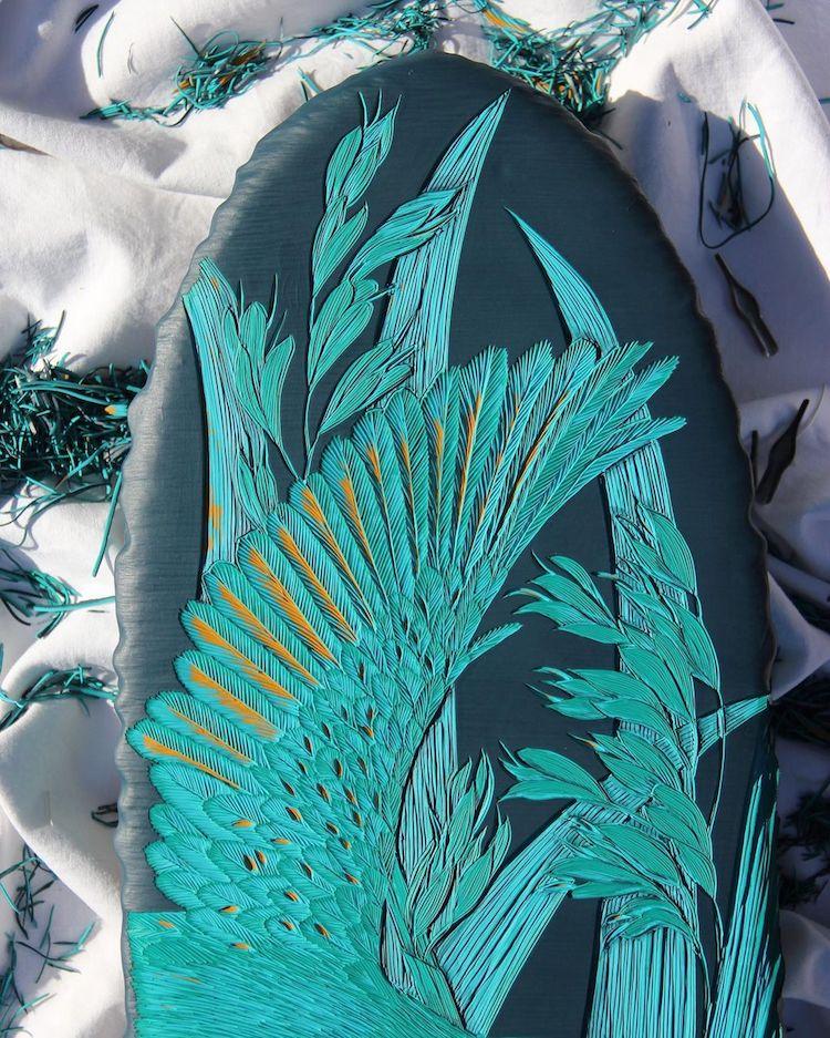 Nature Linocuts by Hannah Jensen