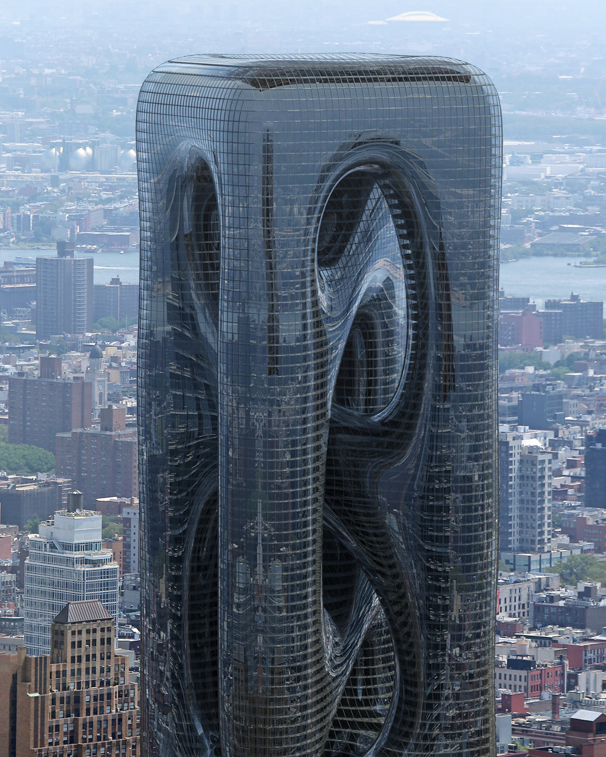 "This ""Sarcostyle"" Tower Proposed for NYC Is Inspired by Muscle Fibers"