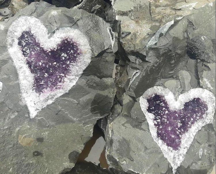 Amethyst Heart Geode