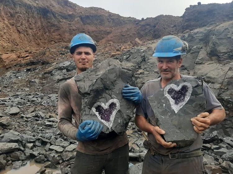 Heart Shaped Geode