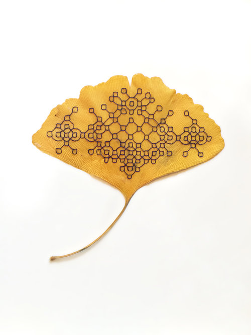 Leaf Embroidery Art by Hillary Waters Fayle