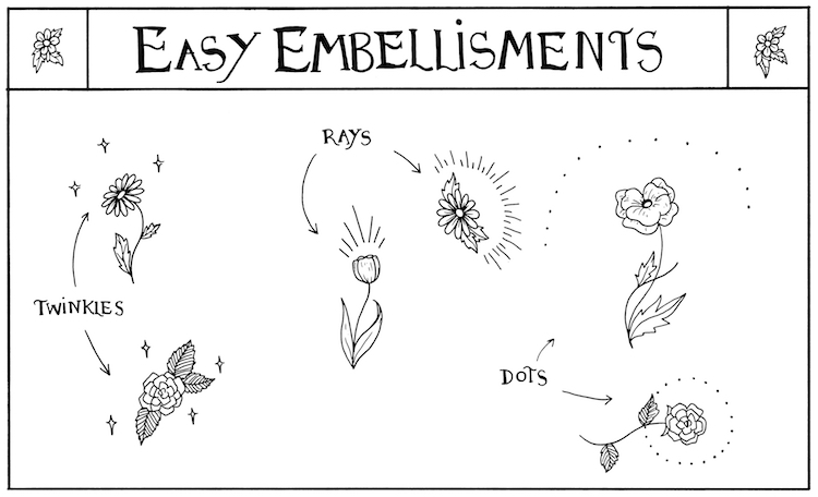 How to Draw Embellishments