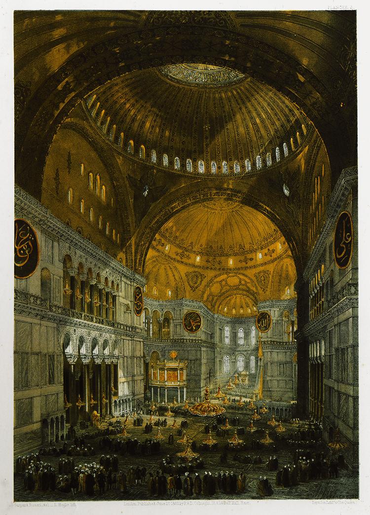 Interior of Ottoman Empire Hagia Sophia