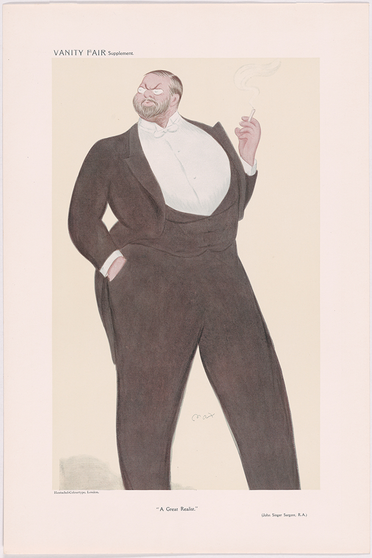 Caricature Lithograph Singer Sargent