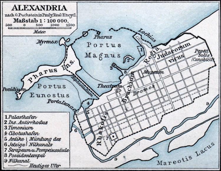 Map of Ancient Alexandria