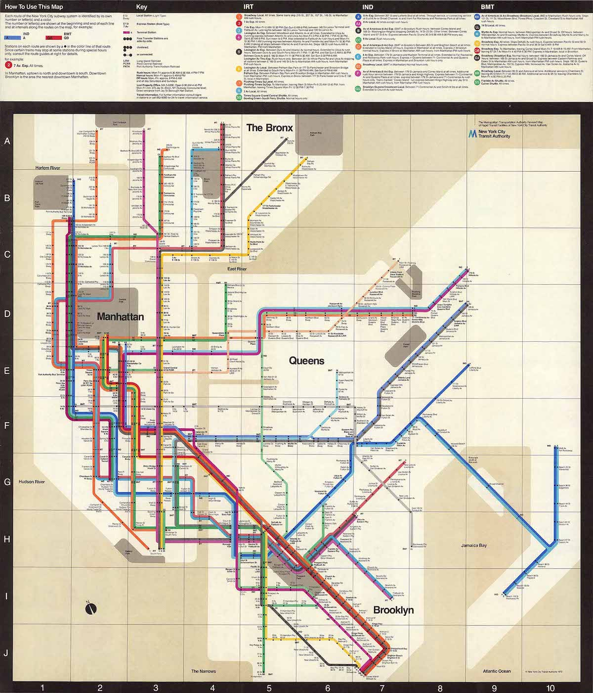 1972 Vignelli NYC Subway Diagram Map - Design Is Not Art: Uncovering the Brilliant Logic Behind Massimo Vignelli's Famous Designs