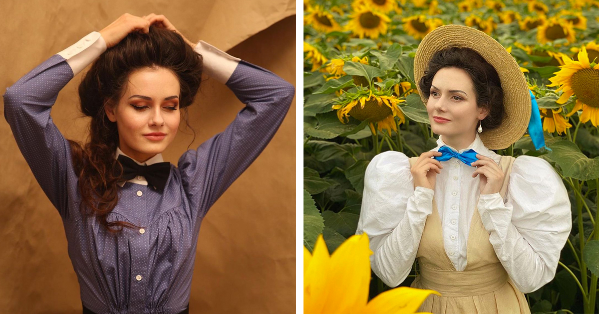 Young Woman Dresses Up Like a 19th-Century Edwardian Lady Every Single Day