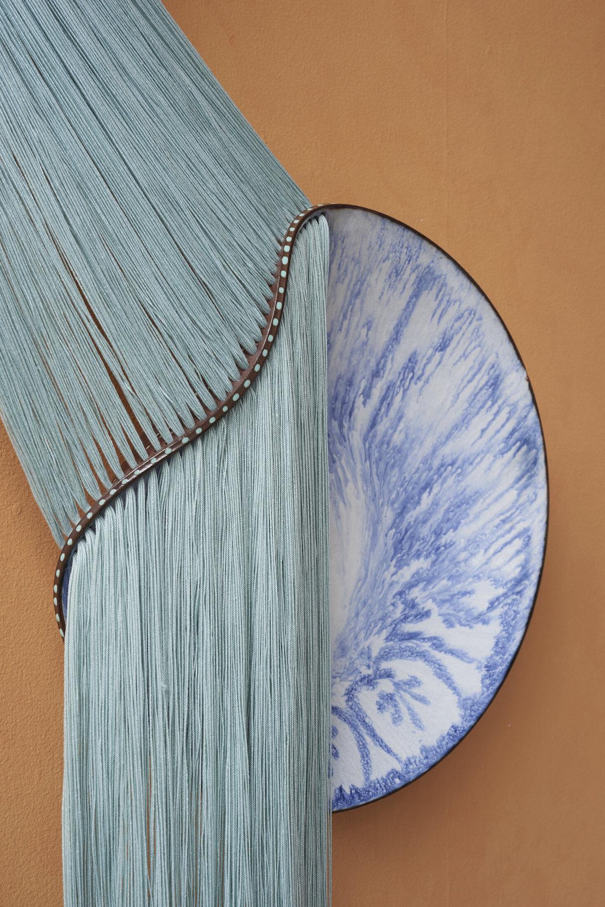 Nicole Mclaughlin Ceramic and Fiber Sculpture