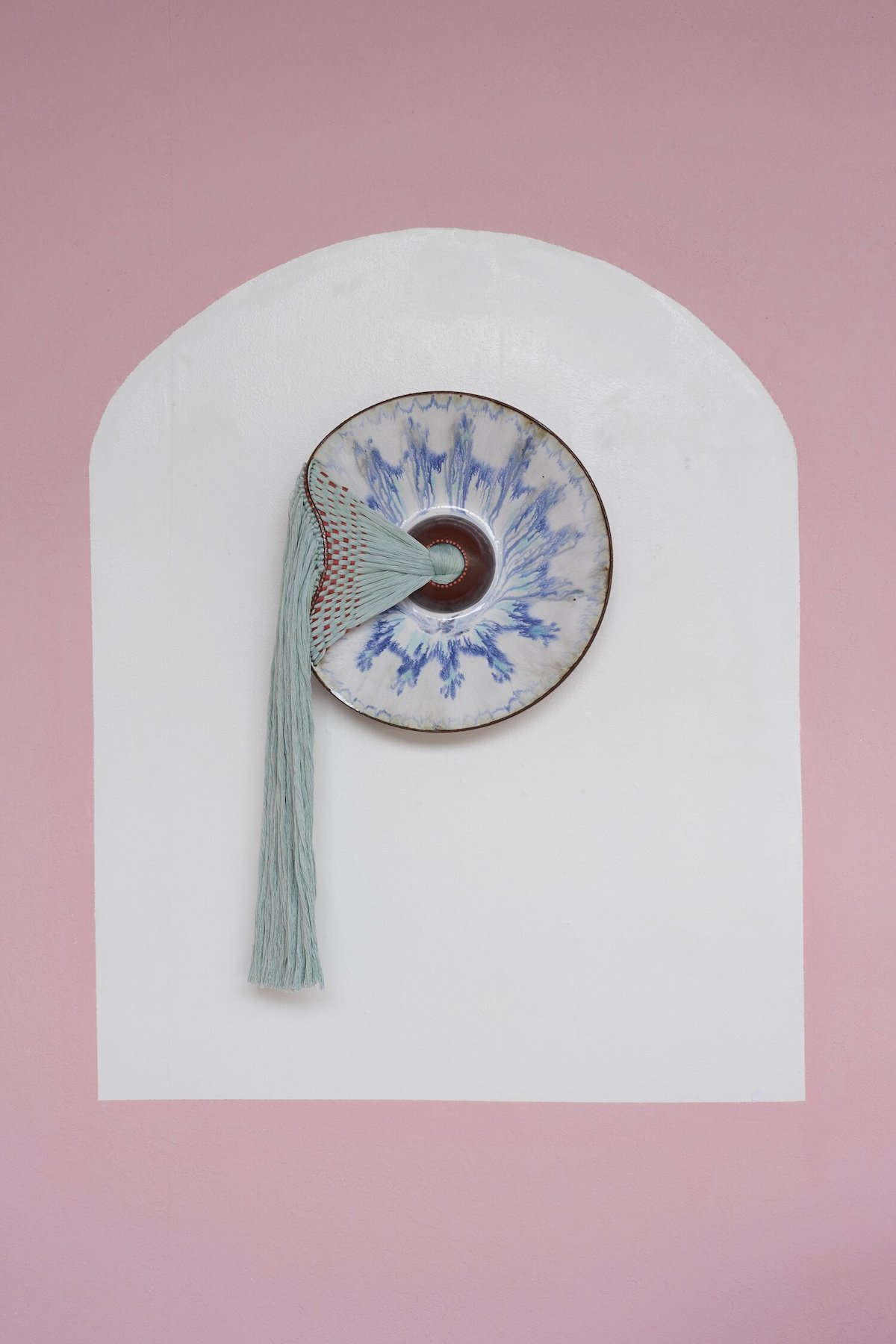 Braided Fiber and Ceramic Sculpture by Nicole McLaughlin