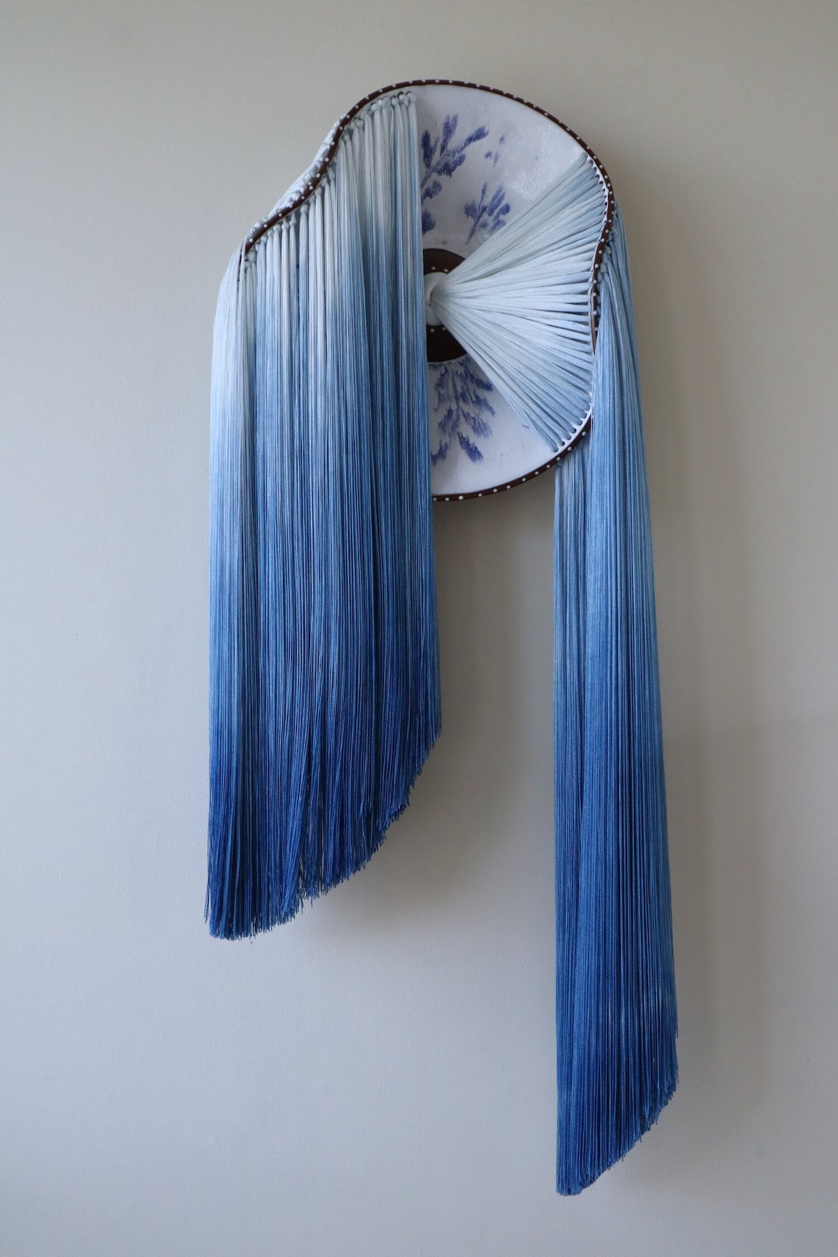 Ceramic Form and Thread Sculpture