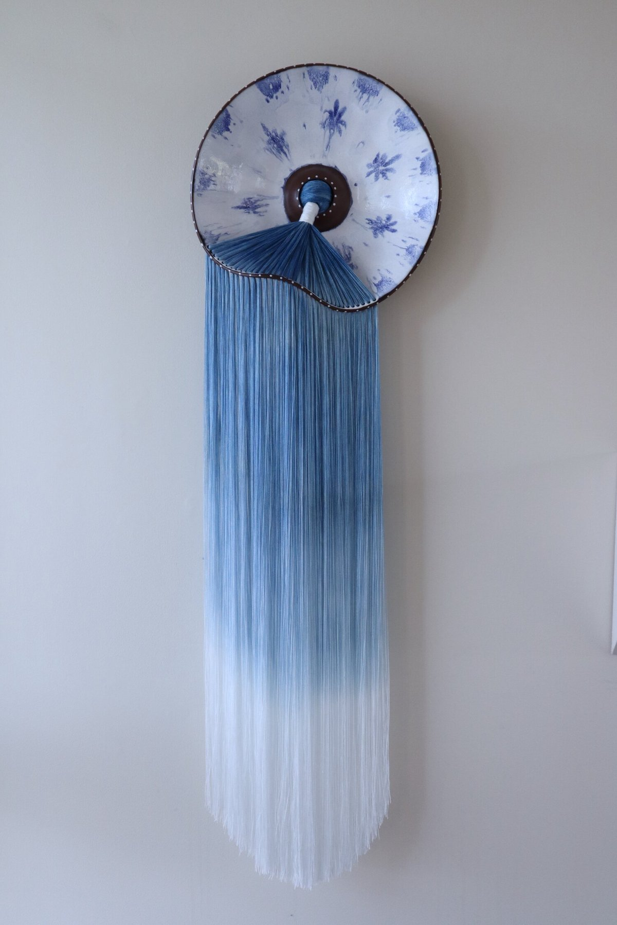 Loose Fiber and Clay Sculptural Installation
