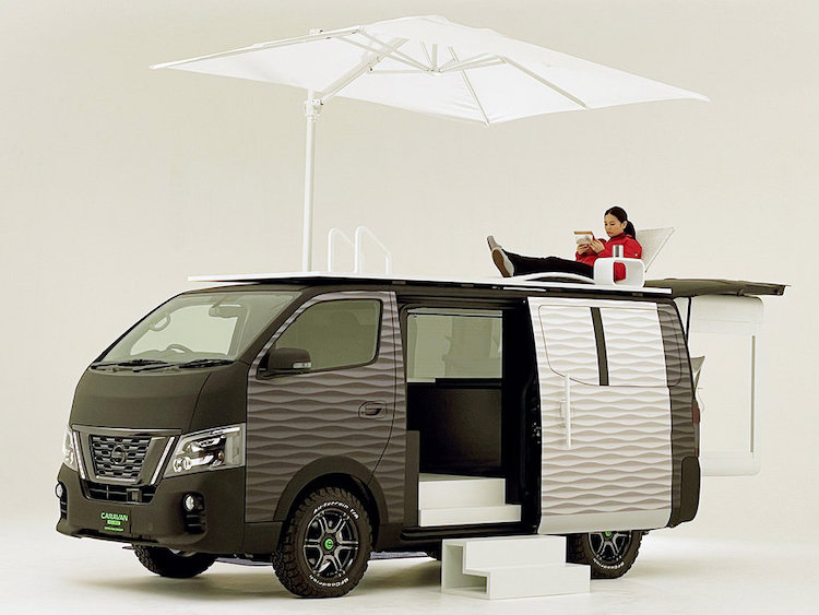 Nissan's Mobile Office Caravan Lets You Work from Anywhere