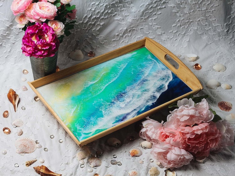 Resin Ocean Art by Maria Risen