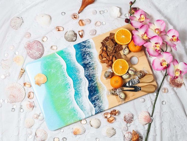 Resin Ocean Art by Maria Risen