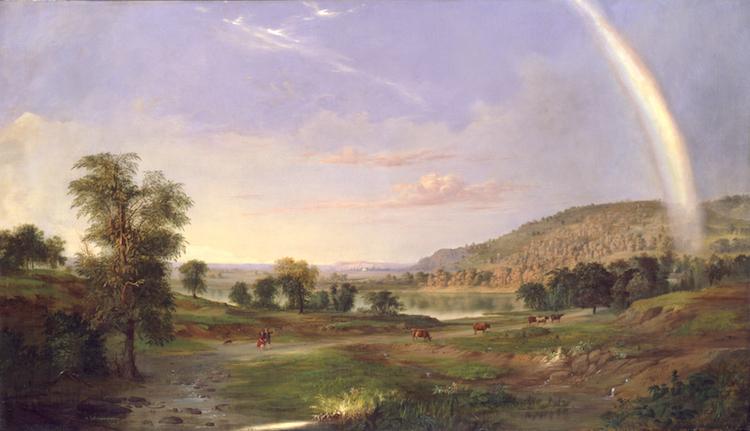 pintura de robert duncanson en prestamo del smithsonian a biden