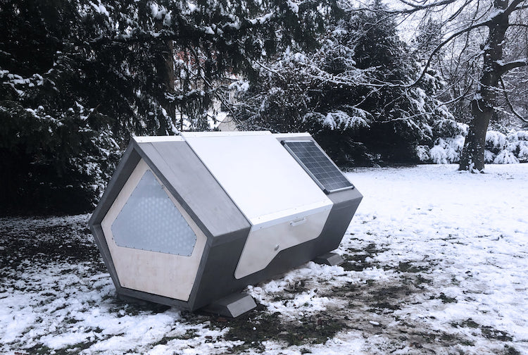 Sleeping Pods for People Experiencing Homelessness by Ulmernest