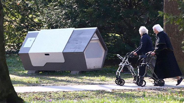 Cápsulas para dormir para personas sin hogar de Ulmernest