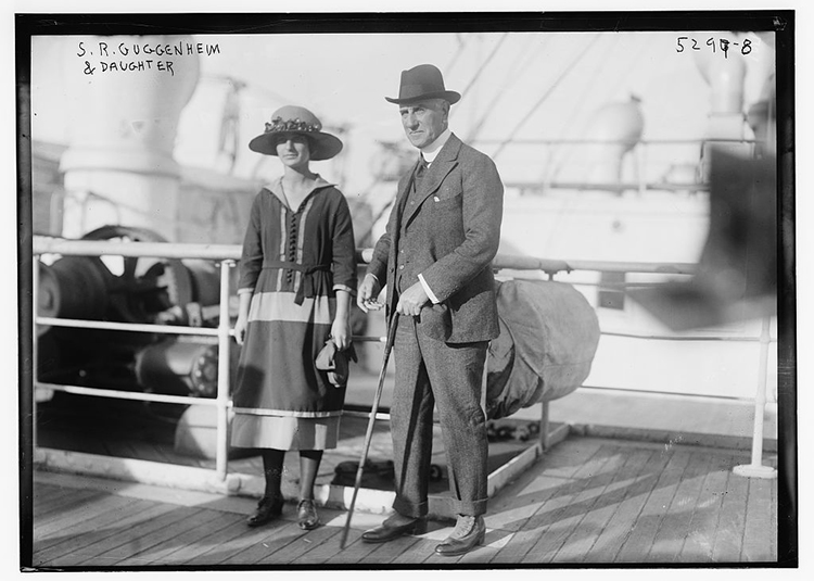 Solomon R. Guggenheim and Daughter