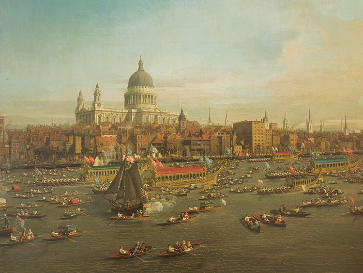 St. Paul's Cathedral London View over the Thames