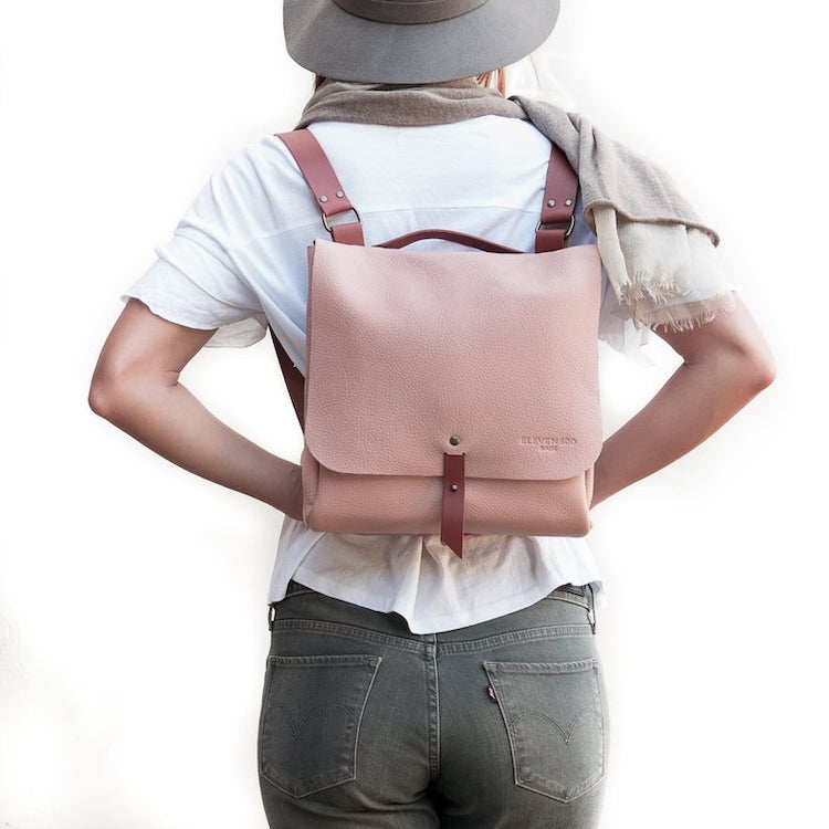 Smooth Full Grain Leather Backpack