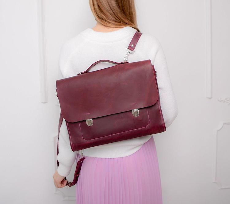 Convertible Leather Backpack and Satchel