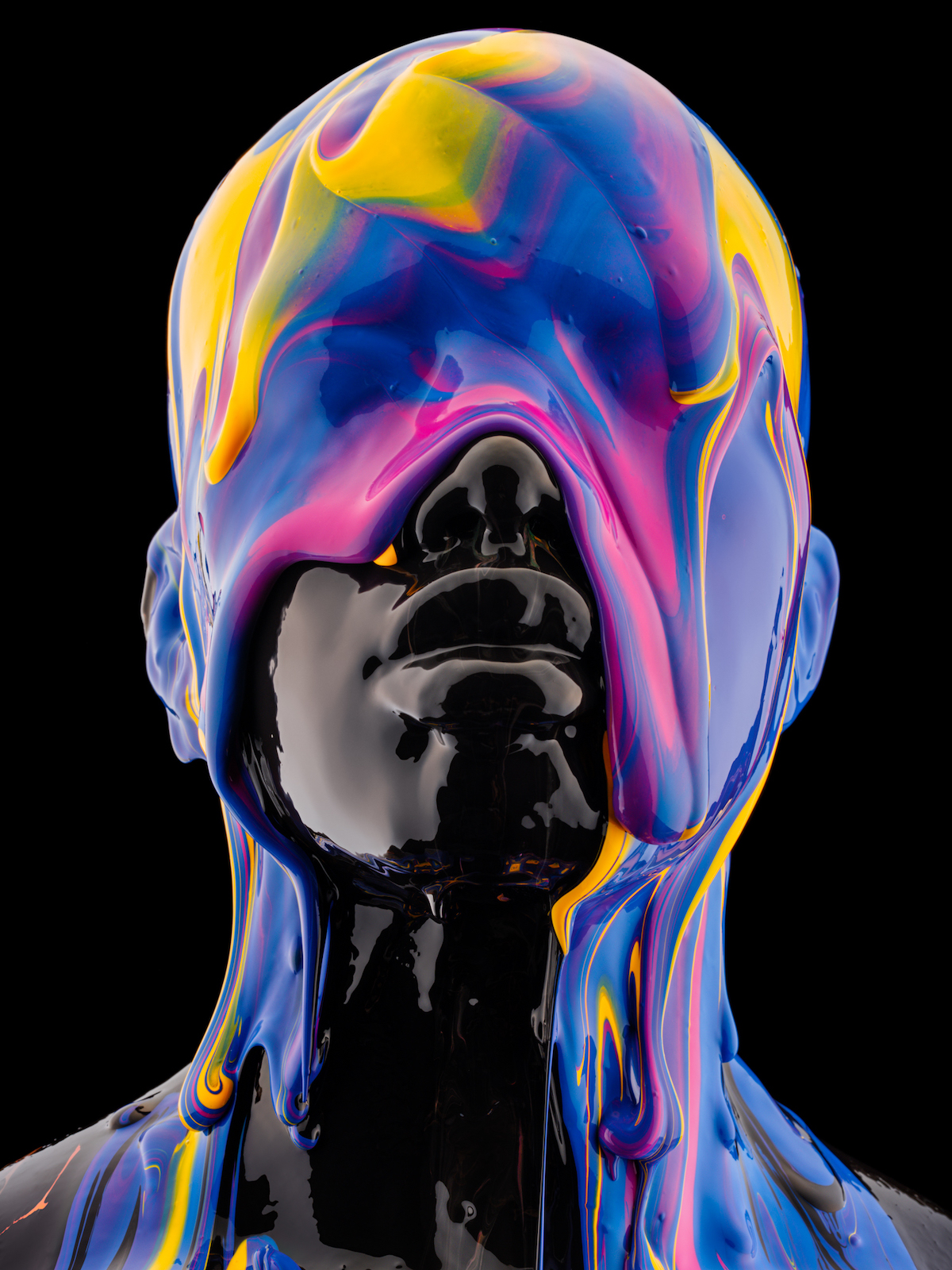Multicolor Paint Drips 'Black Is a Color' by Tim Tadder