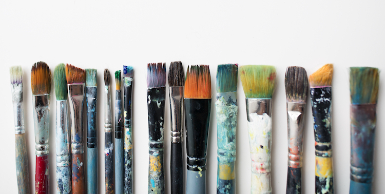 Used Paintbrushes