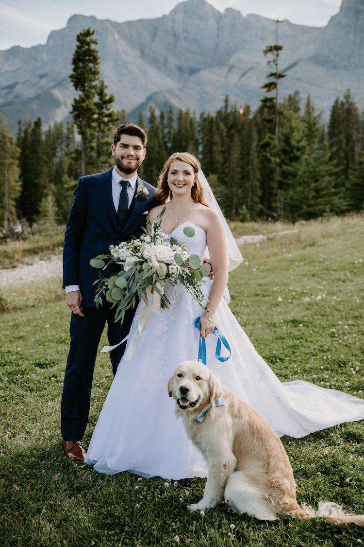 Wedding Cake Featuring Couple's Dog