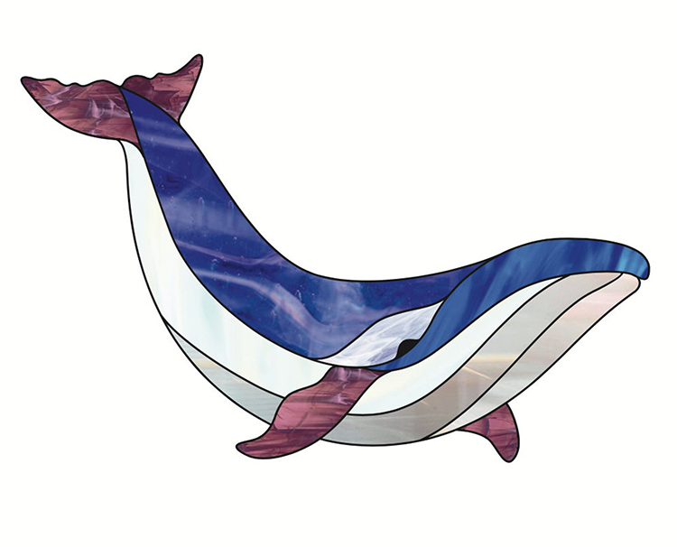 Whale Stained Glass Pattern