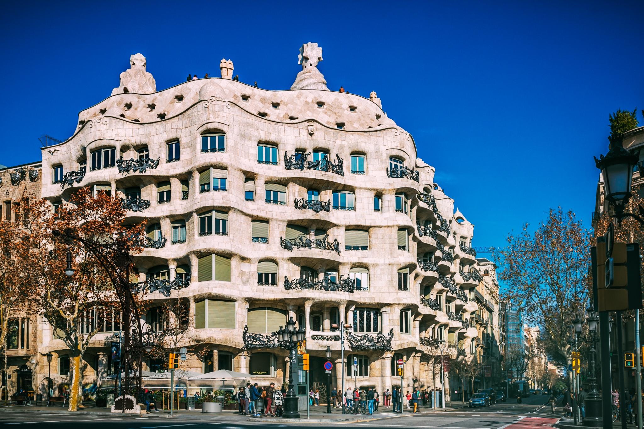 Casa Milá de Gaudí en Barcelona
