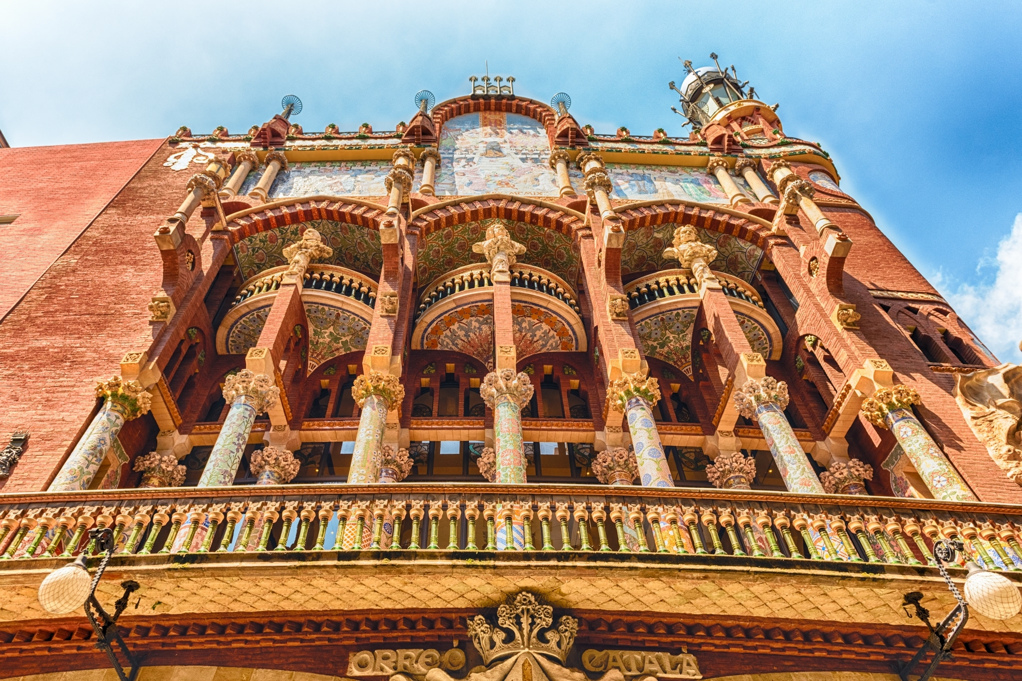 Fachada primitiva del Palau de la Música Catalana