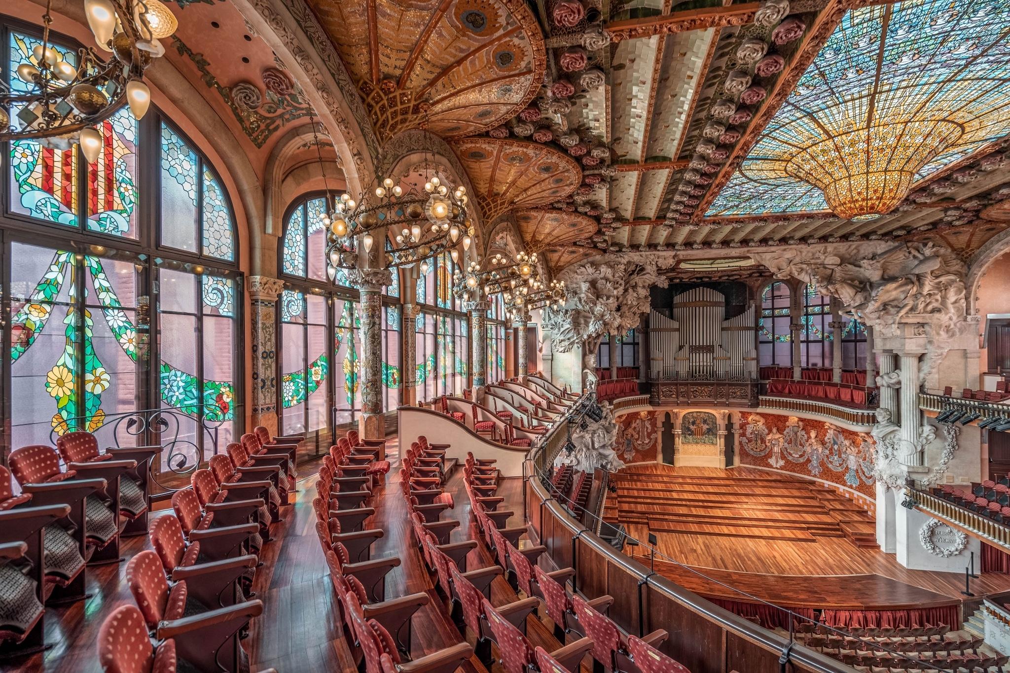 Interior del Palau de la Música Catalana