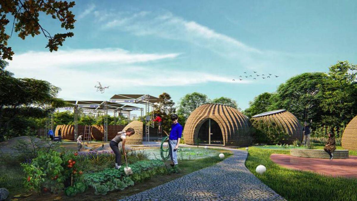 casa impresa en 3d con materiales reciclables