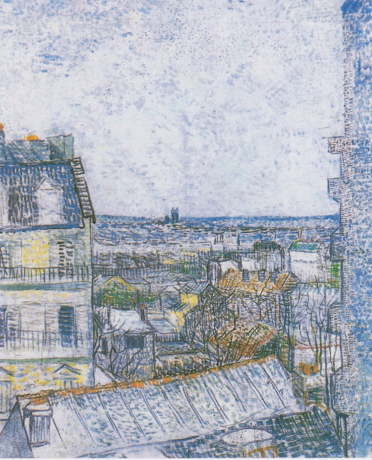 """""""View of Paris from Vincent's Room in the Rue Lepic,"""" by Vincent van Gogh"""