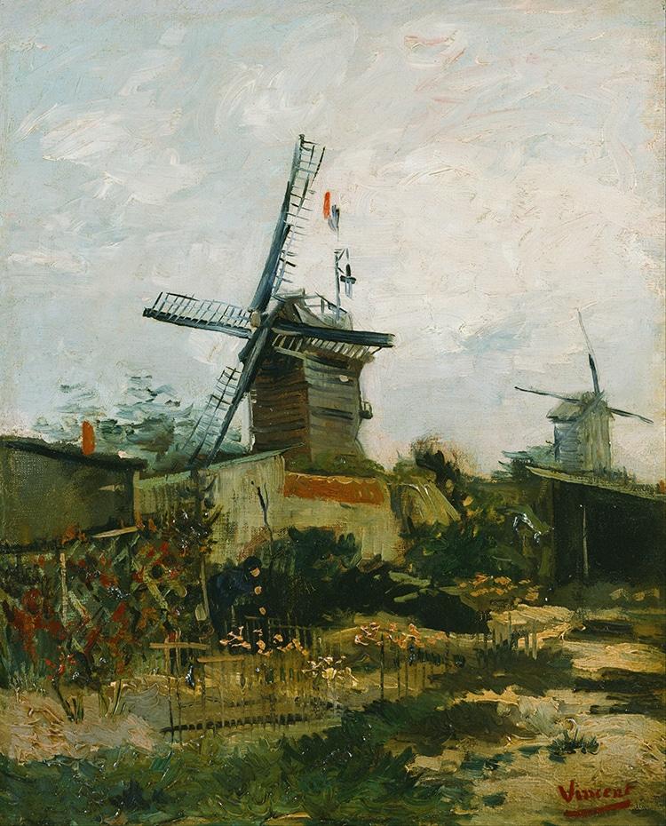 Vincent van Gogh Windmills on Montmartre Series