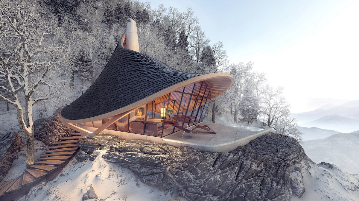 This Unique Hokkaido Retreat Was Designed Using an Algorithm