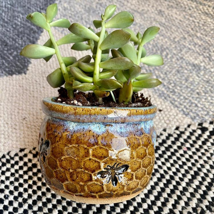 Honeycomb Ceramic Pottery by Amy Gentry