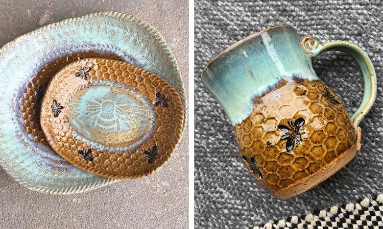 tazas de cerámica por Amy Gentry