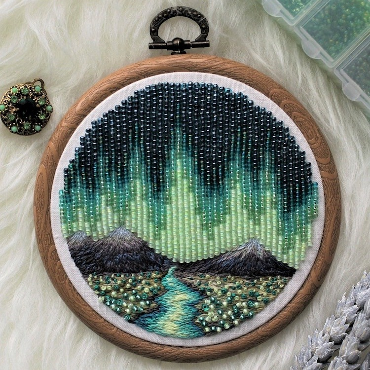 Piezas de bordado con cuentas por Ksenia Zimenko