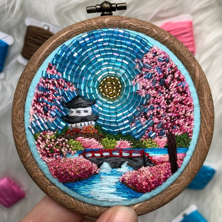 Bead Work Embroidery by Ksenia Zimenko