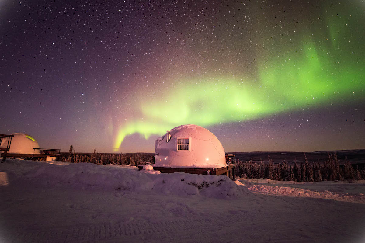 Get the Perfect View of the Northern Lights From These Geodesic Igloos