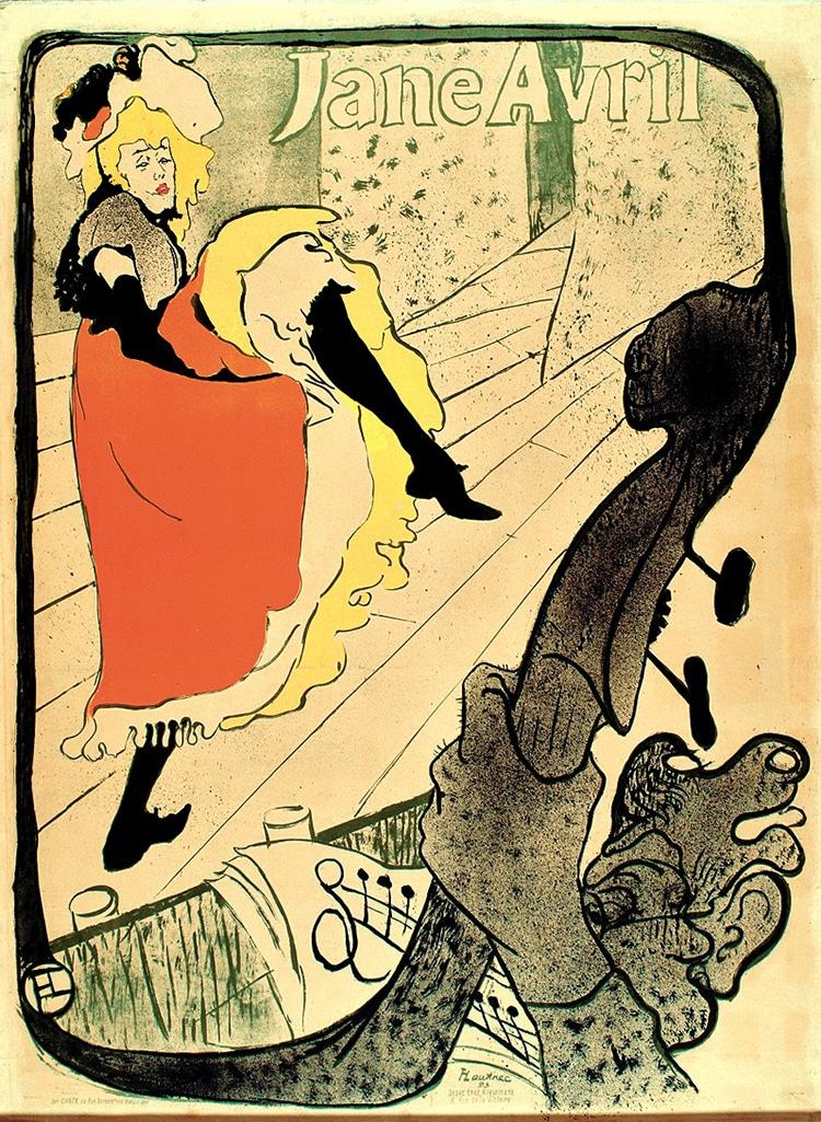 """""""Jane Avril,"""" by Henri de Toulouse-Lautrec Cabaret"""