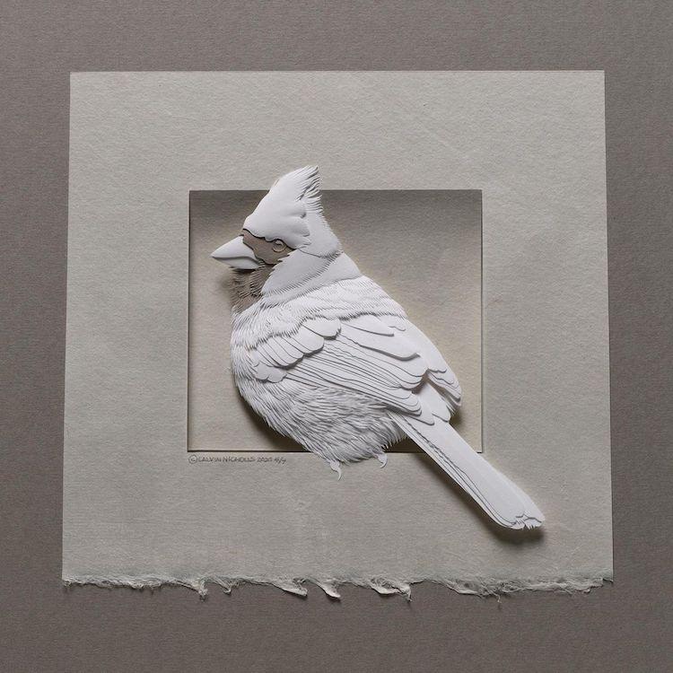 Paper Animal Sculpture by Calvin Nicholls
